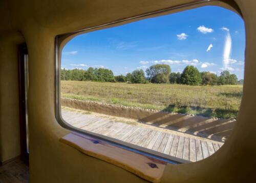 Okno panoramiczne - Chata Jarga
